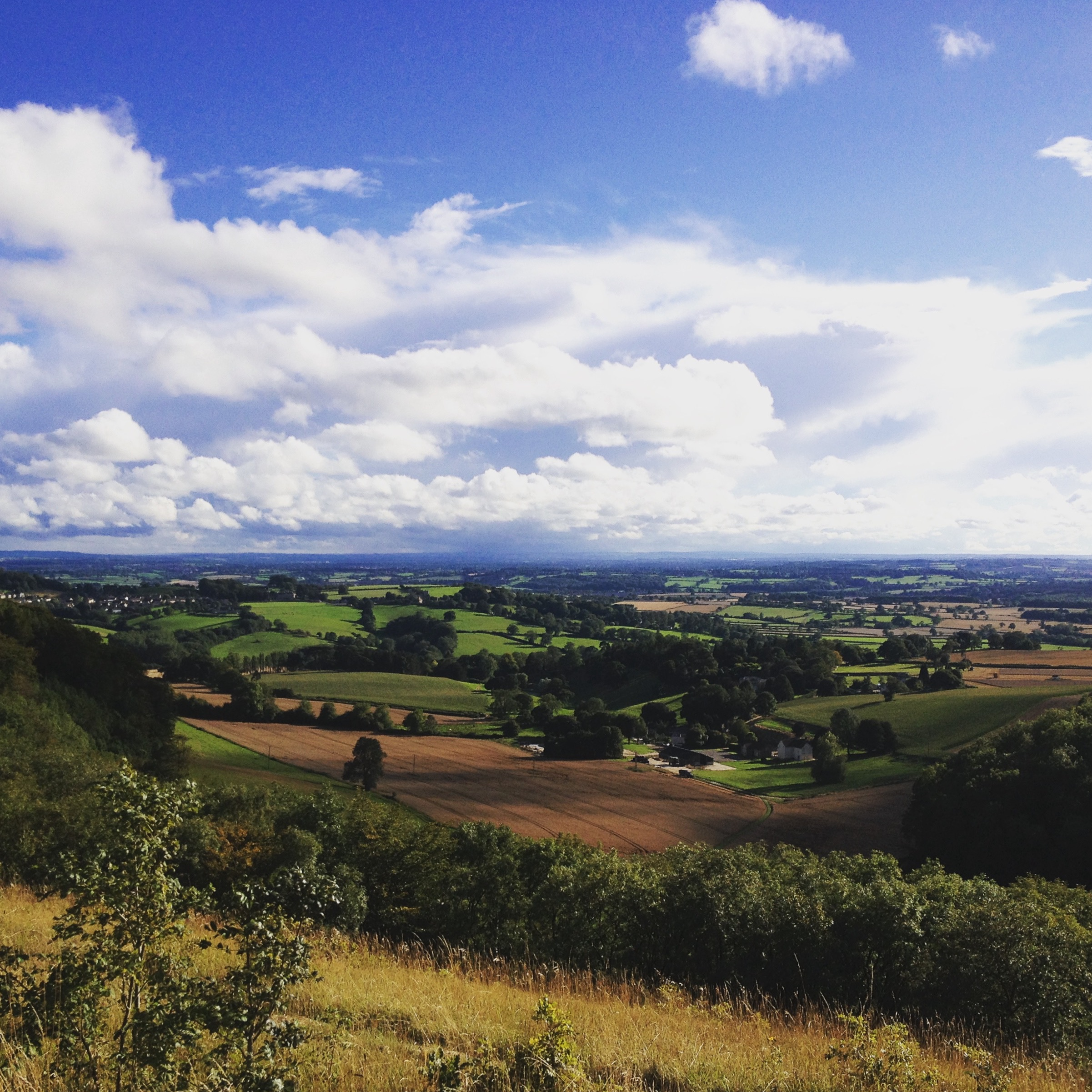 The view from Stinchcombe golf course, Dursley on the 23rd August 2015.