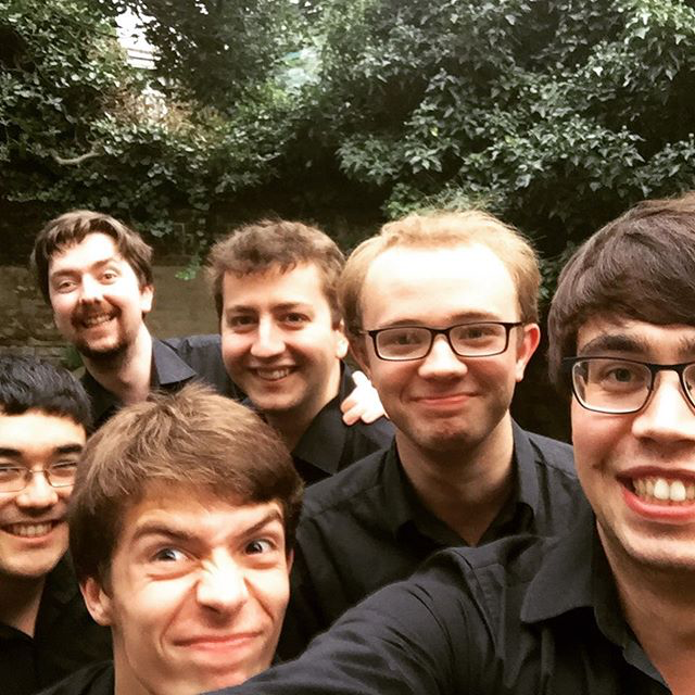 The group before our first concert in Southgate, North London.