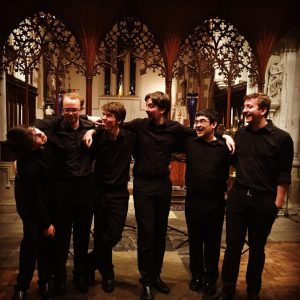 After-concert photo on tour in Salisbury