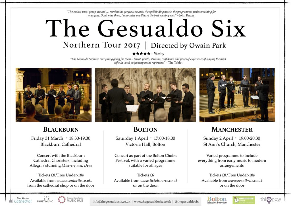 G6 Northern Tour 2017 Poster