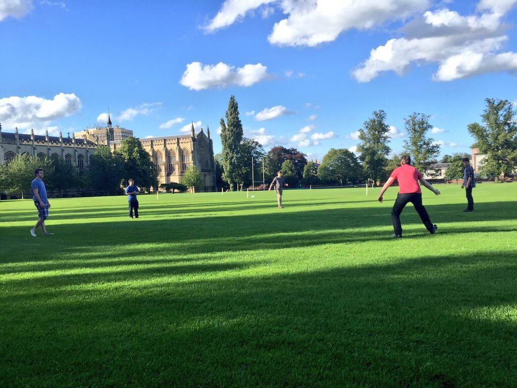 Cricket on Cheltenham Lawn