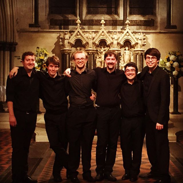 The tour team after our final concert in Boxgrove Priory - feeling a strange mixture of exhileration, sadness and relief!