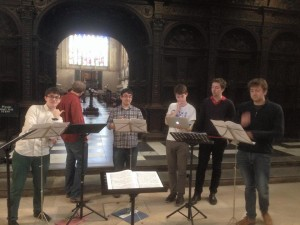 Mid-rehearsal in King's College Chapel